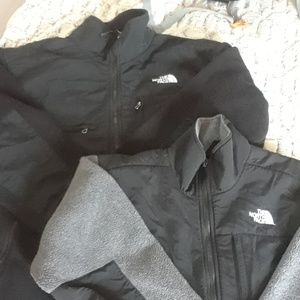 Two North face jackets his and hers